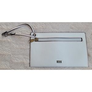 NEW Collection XIIX cream and pink wristlet